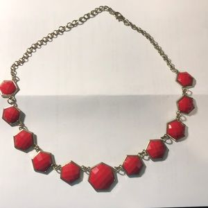 Jewelry - Coral chunky clasp necklace